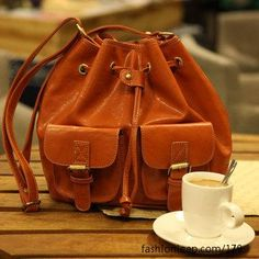 Cute bag and cappuccino= love.