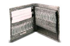 genuine ostrich leg mens wallet from Via La Moda - circa 2010 Ostrich Legs, Wallet, Classic, Style, Fashion, Pocket Wallet, Moda, La Mode, Handmade Purses
