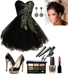 """Peacock Party Dress"" by grittycowgirl ❤ liked on Polyvore"