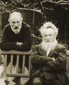 Ned (Edward Burne-Jones) and Topsy (William Morris), best friends since their university days.