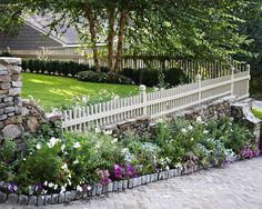flowers along the fence and Traditional Landscape Winter Cottage Design, Pictures, Remodel, Decor and Ideas - page 6