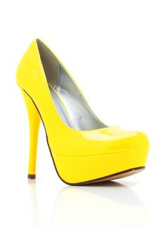 neon patent leatherette platforms $20.40...I sooooo want these! I'm really on a yellow trip these dayz