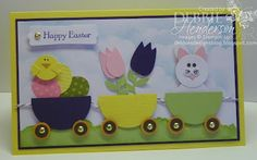 Easter Punch Art Card using Stampin' Up! products by Debbie Henderson, Debbie's Designs.