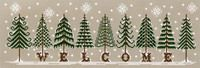 Fir Tree Welcome - designer is Lilli Soleil.  Thought it might get boring, but each tree is different.