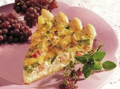 Welcome this tasty quiche morning, noon or night served with fruit or tossed greens.