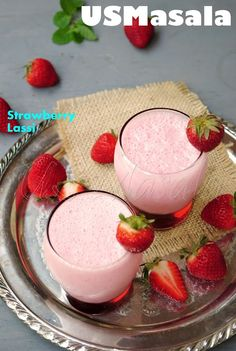 US Masala: Strawberry Lassi