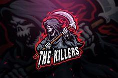 Grim Reaper Sniper Sport and Esport Logo Template by Blankids on Envato Elements Team Logo Design, Logo Design Services, Logo Free, King Sport, Top Imagem, Esports Logo, Skull Logo, Professional Logo Design, How To Make Logo