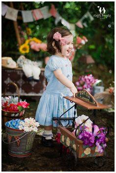 vintage flower market children photography