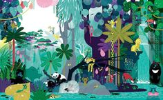 The very jungly jungle book on Illustration Served Art And Illustration, Illustrations And Posters, Art Design, Cover Design, Graphic Design, Oeuvre D'art, Illustrators, Concept Art, Drawings