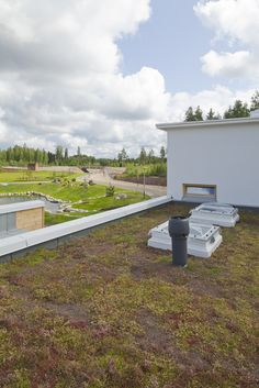 Green roof by Icopal. Finland, Sidewalk, Modern, Green, House, Architecture, Haus, Walkways, Homes