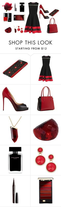 """""""Perfect in black and red"""" by cocodes ❤ liked on Polyvore featuring Christian Louboutin, SUSU, Kenneth Jay Lane, Angélique de Paris, Narciso Rodriguez, INC International Concepts, Marc Jacobs and L'Oréal Paris"""
