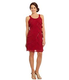 S.L. Fashions Tiered Beaded Dress | Dillard's Mobile