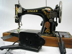 Antique 1910 Singer Sewing Machine http://www.luckypennyshop.com/household.htm