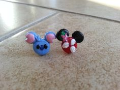 Lilo and Stitch Inspired Mickey Mouse Earrings by SiennasBowtique
