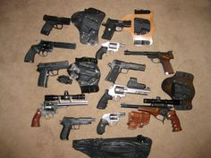 The Best Guns To Kill Zombies Handguns (Pistols) are the best guns and are of excellent value in a Zombie Apocalypse. They are light, as is their ammunition, Zombie Guns, Zombie Weapons, Zombie Apocalypse, Best Handguns, Survival Tools, Art Music, Hand Guns, Pistols, Zombies