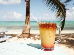 Rum punch is a specialty at Da Conch Shack in Turks & Caicos