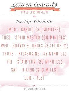 Lauren Conrad workout schedule