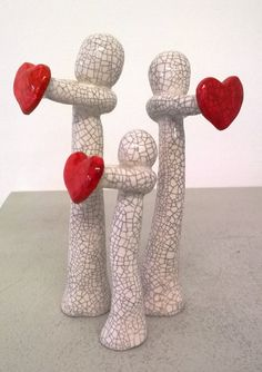 """Family Group by MartinONeillceramics on Etsy WWW.MARTIN-ONEILL.CO.UK """" VALENTINES DAY """"  DON'T FORGET YOUR UNIQUE GIFT FOR THOSE YOU LOVE"""