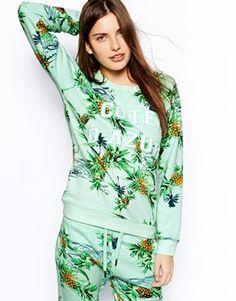 Zoe Karssen Sweatshirt With Tropical Print.. I love the sweatshirt #southoffrance