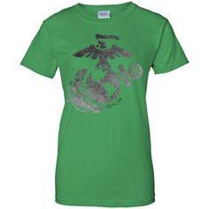 Distressed Marine Corps | Ladies Cotton T-Shirt