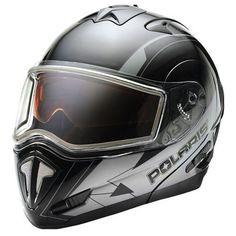 Polaris Modular Full Face Snow Helmet w/ Electric Shield - Retro Black/Orange Snowmobile Helmets, Motor Parts, Full Face, Retro, Electric, Ebay, Black, Atv, Garage