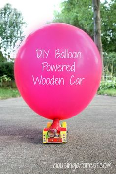 Diy Balloon Powered Wooden Car