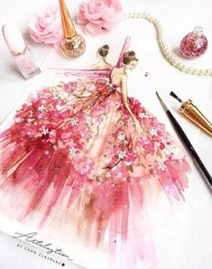Ideas fashion sketches gowns costume design for 2019 Fashion Illustration Sketches, Illustration Mode, Fashion Sketchbook, Fashion Sketches, Nature Illustration, Sketchbook Ideas, Fashion Design Illustrations, Illustration Artists, Paper Fashion