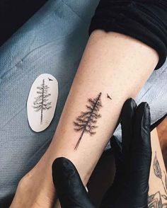tree tattoo on wrist