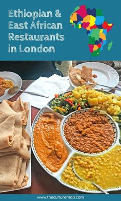 Ethiopian & East African Restaurants in London Sharing Platters, Lentil Curry, Exotic Food, Vegetarian Recipes, Restaurants, Dishes, Eat, Ethnic Recipes, London Map