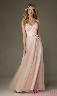 Embroidered Long Mori Lee Prom Dress with Bow. Mori Lee Prom DressesBlush  ... 74a2011ea