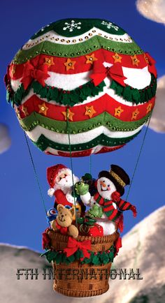 christmas card hot air balloon - Google Search