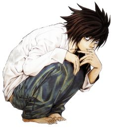 L from death note...my favorite. Near was good, and Mello was okay in the end, but L was by far my favorite.