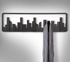 A modern take on the classic coat rack, the Umbra Skyline Wall Mounted Multi Hook is the perfect masculine coat rack for your home. Coat Hanger, Wall Hanger, Wall Hooks, Coat Racks, Dot And Bo, Home Accessories, Sweet Home, Wall Decor, House Design