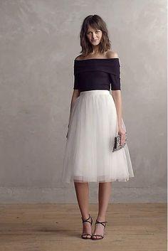 Tulle Midi Skirt                                                                                                                                                                                 More #tulleskirt