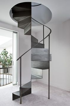 Professionals in staircase design, construction and stairs installation. In addition EeStairs offers design services on stairs and balustrades. Interior Staircase, Stairs Architecture, Interior Architecture, Interior Design, Spiral Stairs Design, Spiral Staircase, Staircase Design, Staircases, Metal Stairs
