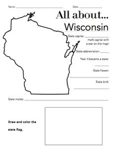 #Wisconsin State Symbol Coloring Page by Crayola. Print or