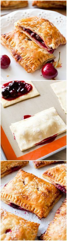How to make Cherry Pastry Pies-- these hand pies are so simple!