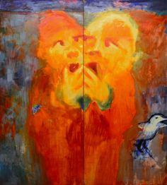 "Юрий Ермоленко, ""Близнецы"" (проект ""TERRA INDIGO""), 2000, холст, акрил, 200х180 см. #YuryErmolenko #еrmolenko #ЮрийЕрмоленко #ермоленко #yuryermolenko #юрийермоленко #юрiйєрмоленко #ЮрiйЄрмоленко #єрмоленко #rapanstudio #modernart #fineart #contemporaryart #painting #impressive #expressive #colorful #art #picture #живопись #artwork #современноеискусство #искусство #terra #indigo #mystery #doll #dolls #toy #toys #child #children #dream #fairytale #magic #psychedelic #metaphysical #spirits…"