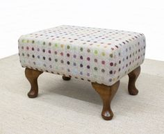 Browse our beautiful range of small footstools and buttoned footstools. British made & handcrafted to order in any size, fabric & legs. Small Footstool, The Selection, Ottoman, Basket, Chair, Fabric, Benches, Furniture, Website