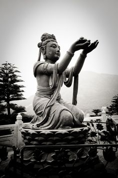 One of the 5 biggest Buddha statues.  The Tian Tan Buddha.  CHINA