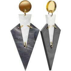 Toolally Art Deco Drop Earrings, Marble/Multi ($62) ❤ liked on Polyvore featuring jewelry, earrings, art deco stud earrings, art deco drop earrings, art deco earrings, drop earrings and deco drop earrings