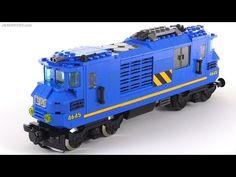 LEGO dual-cab diesel-electric locomotive MOC - YouTube