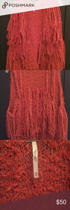 FREE PEOPLE VEST Rust piñata parade shaggy vest, new without tag Free People Other