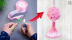 How To Make Rose, How To Make Ribbon, Ribbon Decorations, Paper Crafts Origami, Ribbon Crafts, Easy Diy, The Creator, Ribbon Rose, Satin