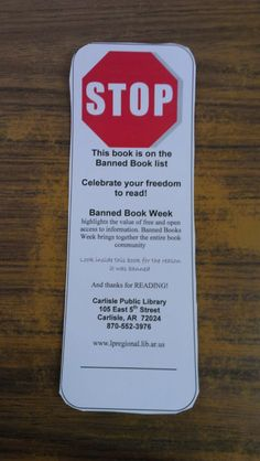 Banned Book Week  I am going to put these inside the banned books I have on display.  We also looked up why each book was banned and put that information inside the book.