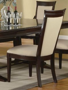 Castine Side Chairs (Set of 2) - Coaster 101942 by Coaster Home Furnishings. $506.00. Some assembly may be required. Please see product details.. The Castine Side Chairs are great for your dining room with their elegant design. The have a great cappuccino finish to them. They match up with the table in this collection. These wood side chairs are usually in stock and ships to you at no additional charge.Castine Side Chairs Features:Cappuccino FinishCastine Side Chairs Di...