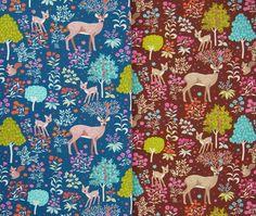 FAIRYTALE FOREST printed sweatshirt knit 0.65m by Ottobredesign
