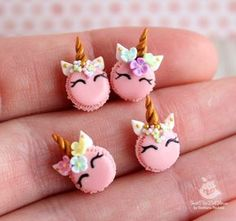 Miniature Unicorn macaroni (4 pieces) for dolls and doll houses. Scale 1:12. Handmade. Polymer clay. Dollhouse by SweetMiniDollHouse on Etsy https://www.etsy.com/ca/listing/580642548/miniature-unicorn-macaroni-4-pieces-for