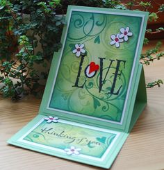 fun easel card - have you done anything like this for your guild yet? cute!