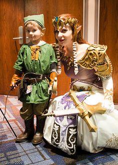 Zelda and little Link cosplay